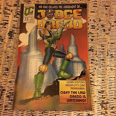 Quality Comics Judge Dredd issue 33 2000 AD Mega-City One 1989 Seven Samurai