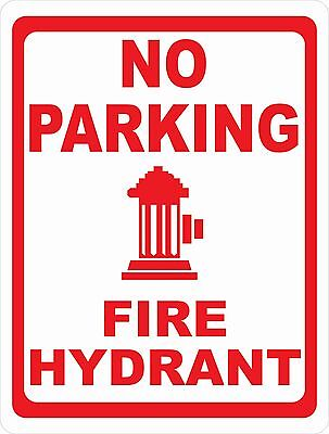 No Parking Fire Hydrant Sign. Size Options. Safety Do Not Block Hazard Lane