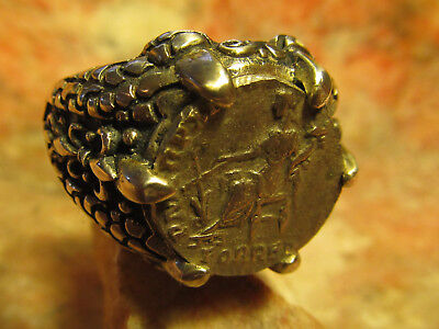 Authentic Ancient Roman Imperial Goddess Fortuna Womens/Mens ring!