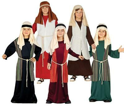 Shepherd Joseph Inn Keeper Childrens Boys Girls Nativity Fancy Dress Costume
