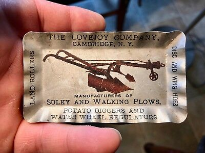 Lovejoy Company Plows Potato Diggers Agriculture Advertising Tip Tray