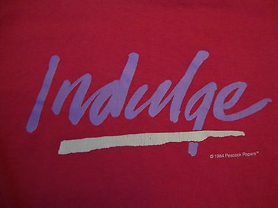 Vintage Indulge Peacock Papers Paper Thin Pink T Shirt Size L