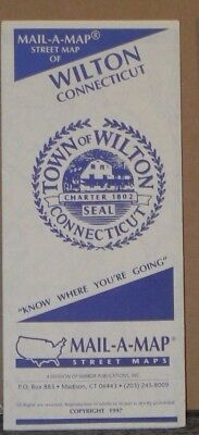 1997 Mail-A-Map Street City Map Wilton Connecticut with Local Advertising