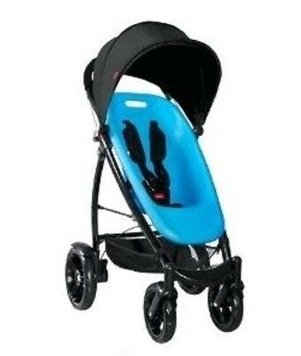 Phil&Teds 2013 Smart Buggy Stroller Bundle Bubblegum Seat & Liner & Black Canopy