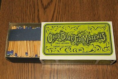 OHIO BLUE TIP MATCHES Strike Anywhere Matches from 1970 Full Box NOS