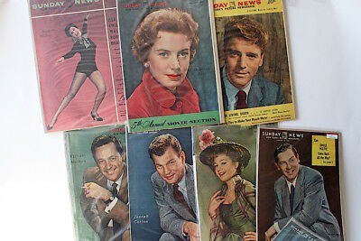 Vintage Magazine Covers Hollywood Stars 1950s New York Sunday News
