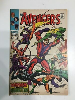 MARVEL ~ THE AVENGERS AUG #55 FIRST ULTRON APPEARANCE COMIC 12c