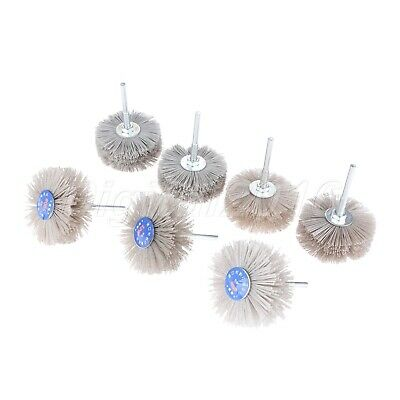 80-600 Grit Abrasive Wire Wheel Brush Polishing Buffing Woodworking Rotary Tool