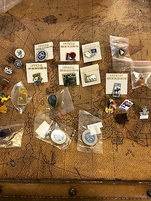 25 Vintage Pins Vancouvers Worlds Fair Expo Military Various Others