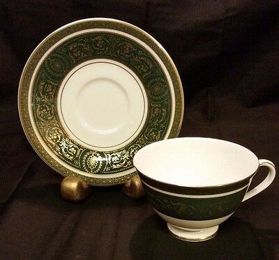 Royal Doulton Vanborough Green Cup with Saucer H4992
