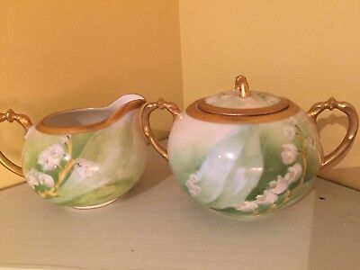 Antique limoges Creamer And Sugarbowl