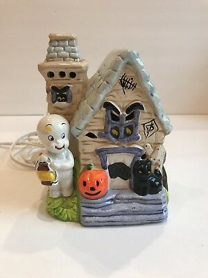 CASPER The Friendly Ghost Ceramic Lighted Haunted House 1987 Harvey Publications