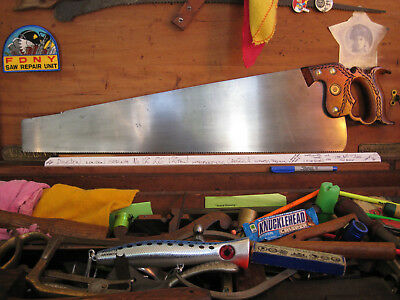"""UGLY LONDON SPRING DISSTON No.12 26"""" 12PT UTRA FINE FINISH CROSSCUT SAW"""