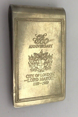 Vintage 800th Anniversary City of London Lord Mayor Money Clip