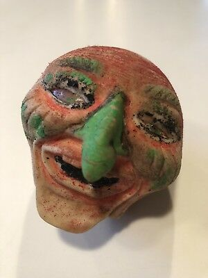 Vintage Halloween Witch Squeeze Toy Gross Maggots