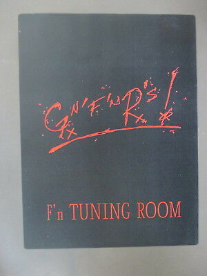 "Guns n' Roses Backstage Door Sign ! 8.5"" X 11"" -- ""F'n Tuning Room"" !"