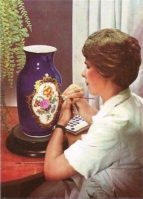 Postcard Germany Meissen Porcelain Vase Painter (Prof. Borner Vase) Unused