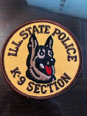 Illinois State Police Patch K-9 Section