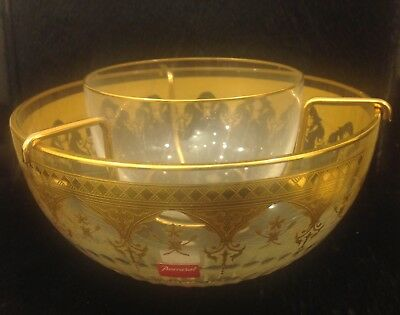 """BEAUTIFUL CAVIAR SET PRESTIGE COLLECTION (Gold Encrusted) by BACCARAT """"MINT"""""""