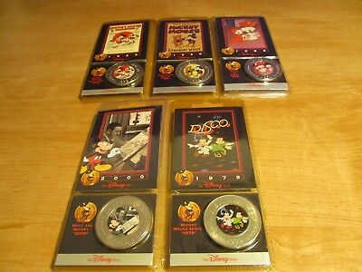The Disney Decades Coins Lot of 5 Brand New and Sealed 1928 - 2000