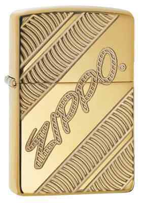 Zippo 29625,Coiled,Deep Carved Armor, High Polish Brass Lighter PIpe Insert (PL)