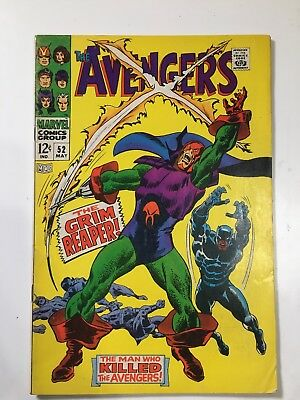 The Avengers #52 BLACK PANTHER JOINS THE AVENGERS and (1st Grim Reaper)