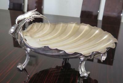 19th C Gorham Sterling Silver Aesthetic Figural Lobster Salad Centerpiece Bowl