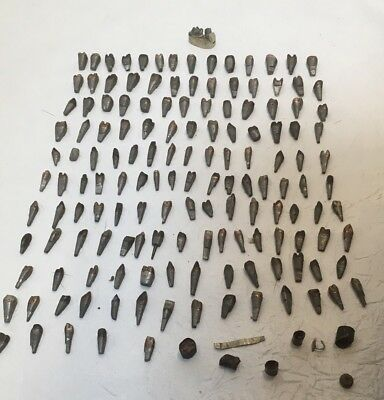 150 Vintage Dental Metal Teeth Molds Early Jewelry