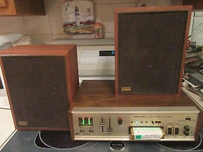 Realistic TR-800 Cartridge Tape Recorder With MC-500 Speakers