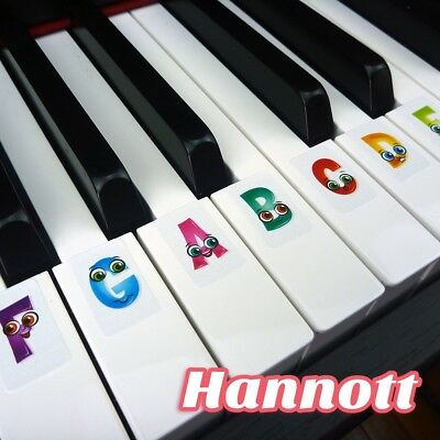 KID'S BEGINNER Keyboard labels / stickers learn Piano 4 Children