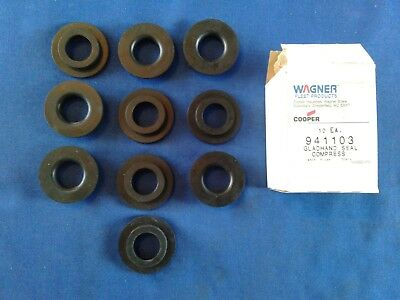 Wagner Gladhands Seals # 941103, Set of 10 Compression, Black, USA Made