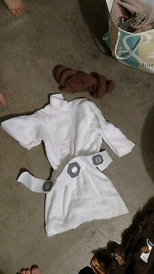 4 Star Wars Family Costumes, Dog-Chewbacca, Toddler-Leia, Woman-Padme, Man-Vader