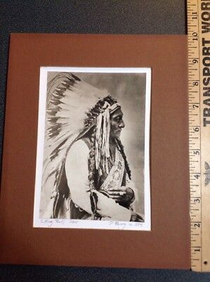 Indian Wars Original Colotype Photo Sitting Bull 1885 George Custer By D. Barry
