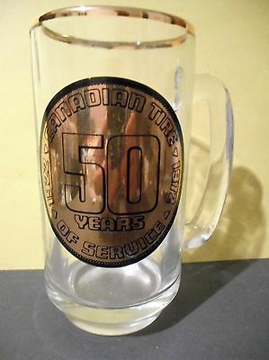 1972 Canadian Tire Vintage Beer Mug,50 Years of Service 1922-1972