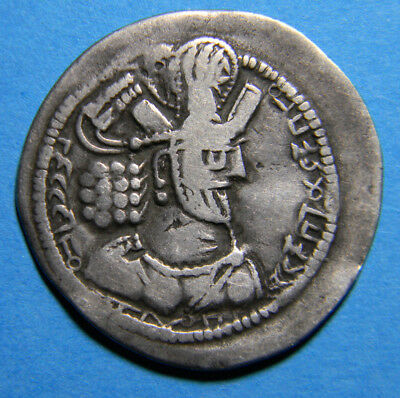 Hunnic tribes  Silver Drachm  (0452) Fire Alter