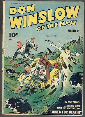 DON WINSLOW OF THE NAVY  12  VG-/3.5  -  Cool ocean cover! Nice affordable copy!