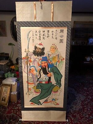 Vintage/antique Japanese/asian Hand Painted Scroll Marked