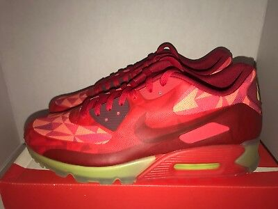 cac9f6a898 Nike Air Max 90 Ice Men's Size 11.5 Gym Red 631748 600