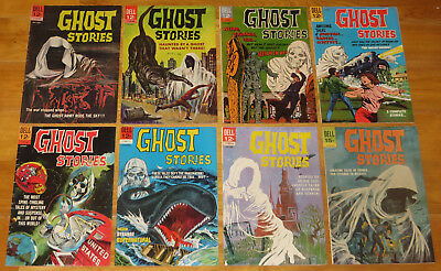 DELL Horror Lot 1963-1969 GHOST STORIES 8 Books No. 3, 7, 16, 17, 19, 20, 21, 22