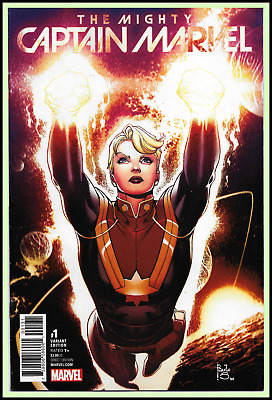 Mighty Captain Marvel #1 (2016) Siqueira 1:25 Variant Carol Danvers Movie Vf/nm