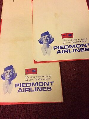 Piiedmont Airlines ticket jacket wallets 60's    Plus All The Extras