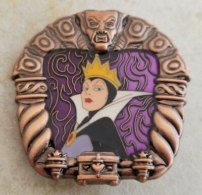 Disney Trading Pins Evil Queen Snow White Stained Glass Window Villains Framed