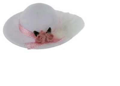 Lady/'s Blue hat with feather dollhouse Classics Miniatures IM65181 1//12 scale