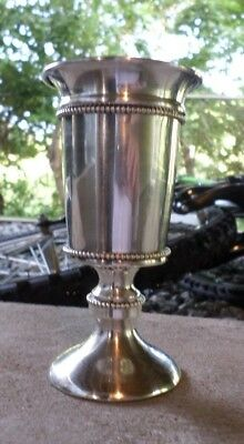 Judaica Sterling Silver Kiddish Cup, Wedding Gift, Wine Goblet for Sabbath
