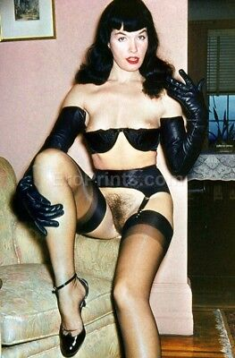 BETTIE PAGE The Queen of Pinups IN FULL COLOR Metallic Finish Photo 8x10 Nr 72