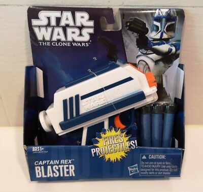 Star Wars The Clone Wars CAPTAIN REX BLASTER NERF Gun Hasbro New in pack
