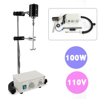 Variable Speed Electric Overhead Stirrer Mixer Height Adjustable Drum Mix Lab