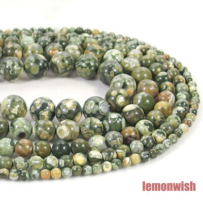 Natural Peacock Jasper Stone Spacer Beads 15.5'' 2mm 3mm 4mm 6mm 8mm 10mm 12mm
