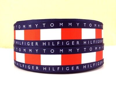 Grosgrain Ribbon Tommy Fashion Brand #7 25mm (1m, 2m or 5m)