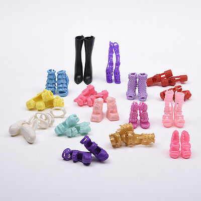 16 Pairs Party Daily Dress Clothes High Heel Shoes For Doll Cute New.